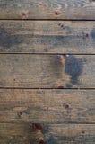 Plancher rustique de fond non-peint de plan rapproché de planches Images libres de droits