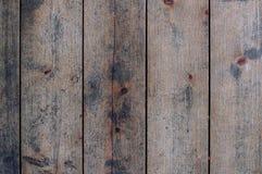 Plancher rustique de fond non-peint de plan rapproché de planches Photo libre de droits