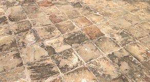 Plancher sale de bloc de béton Image libre de droits