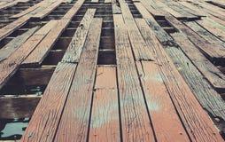 Planchers en bois de décomposition Images libres de droits