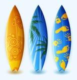 Planches de surf avec la conception Image libre de droits