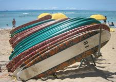 Planches de surfing 03 d'Hawaï Image libre de droits