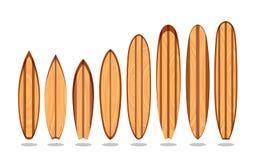 Planches de surfing en bois Image stock