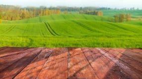 planches en bois avec le paysage italien sur le fond Image libre de droits