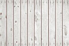 Planches en bois blanches comme fond ou texture Photographie stock