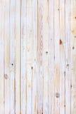 Planches en bois blanches dans la rangée Photographie stock