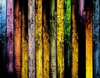 Planches en bois colorées sales Photographie stock