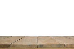 Planches en bois d'isolement sur le fond blanc Photos libres de droits