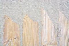Planches en bois de Sandy Image libre de droits