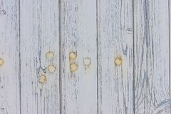 Planches en bois de vieille peinture avec des clous Photo libre de droits