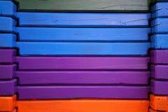 Planches en bois horizontales colorées photos libres de droits
