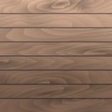 Planches en bois noisette de texture de grain de vecteur Surface en bois de table Photos libres de droits