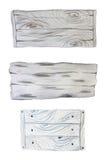 Planches et bannières en bois d'aquarelle Images libres de droits