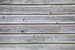 Planches grises de vieille barrière Image libre de droits