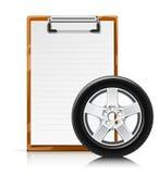 Planchette avec la roue Illustration Libre de Droits