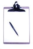 Planchette avec le crayon lecteur et le papier photo stock