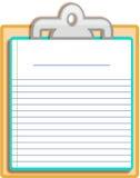 Planchette blanc de bloc-notes Photo libre de droits
