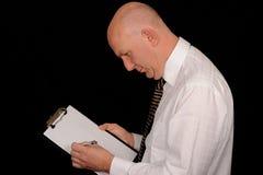 planchette d'homme d'affaires photo libre de droits