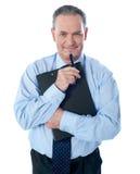 Planchette de fixation d'homme d'affaires photo libre de droits