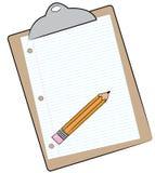 Planchette et crayon Images stock