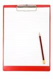 Planchette rouge Photo stock