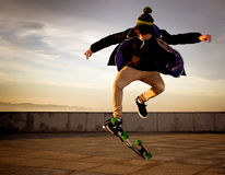 Planchiste de l'adolescence Image stock