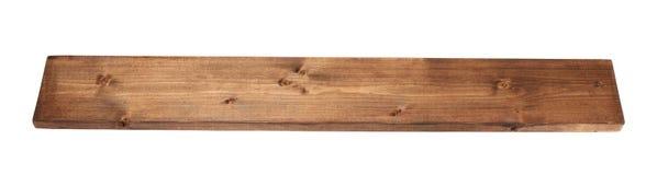 Plancia colorata del bordo di legno di pino isolata Immagine Stock Libera da Diritti