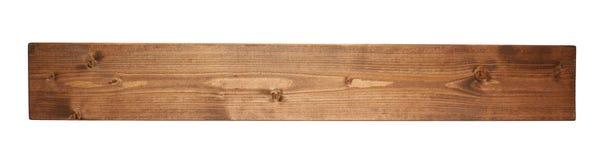 Plancia colorata del bordo di legno di pino isolata Fotografia Stock Libera da Diritti