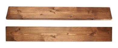 Plancia colorata del bordo di legno di pino isolata Fotografie Stock