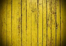 Plancia di legno grungy gialla Fotografie Stock Libere da Diritti