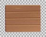 Plancia di legno realistica 3d, sighboard di vettore Fotografia Stock