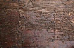 Plancia di marrone scuro Fotografie Stock