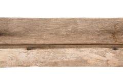 Plancia di vecchio legno isolata Immagine Stock