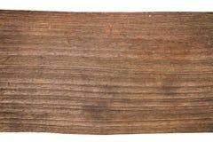 Plancia di vecchio legno isolata Immagine Stock Libera da Diritti