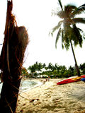 Plancia sulla spiaggia Fotografia Stock Libera da Diritti