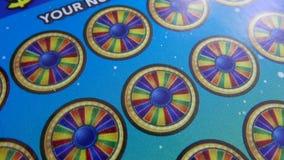 Plandeka strzał loteryjny bilet na stole zdjęcie wideo