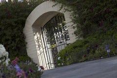 Plandeka strzał wejściowa brama dom Fotografia Royalty Free