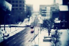 Śnieżny ruch drogowy błękit Obrazy Royalty Free