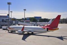 Planeï ¼ Lotnisko zdjęcie royalty free