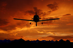 Plane. The plane on a background of the sky Royalty Free Stock Photo