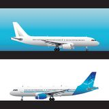 Plane. Air plane illustration commercial white Stock Photography