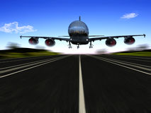 The  plane Stock Photography