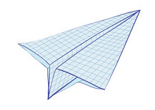 Plane. Is made of notebook sheet Royalty Free Stock Photo