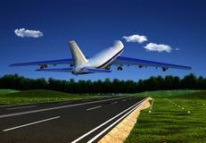 The  plane Royalty Free Stock Photo