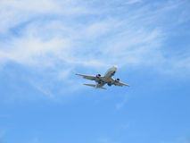 Plane. Landing plane Royalty Free Stock Photos
