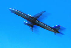 Plane. Blu plane Royalty Free Stock Images