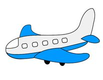 Plane. Illustration of a colorful plane isolated on white background Royalty Free Stock Photography