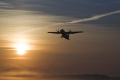 The plane. On a background of the sky Stock Photography
