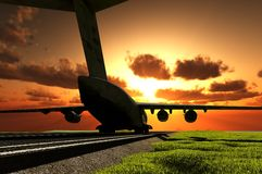 The  plane Stock Images