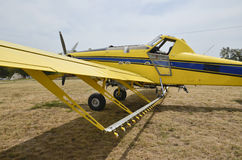 Plane. A parked crop duster in Illinois Stock Images